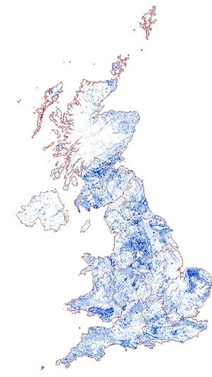 Current distribution of sites in the BRITPITS database and licence regions. (Channel Islands not shown). Click to enlarge. BGS©NERC